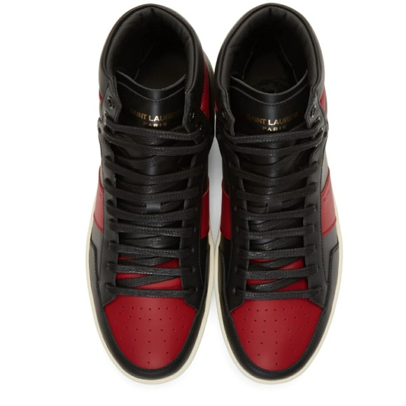 647a9d48ab3e Black and Red SL 10 Hightop Sneakers. M 5c1c5bf0d6dc525704262d59